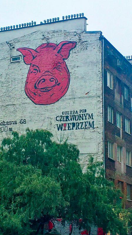 Oberża pod Czerwonym Wieprzem – mural